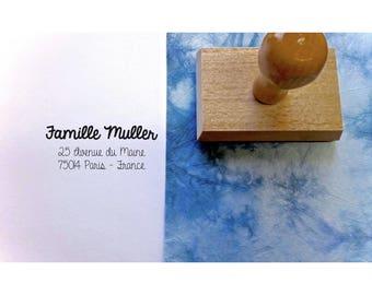 Stamp address family Müller, custom address stamp, stamp address wedding stationery, rubber stamp address personalized custom