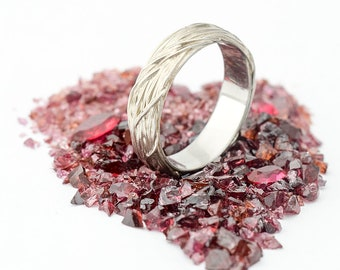 ROMANTIC Wedding ring, Engagement ring, Womens ring, Mens ring, Coiled Stainless steel ring, Wire wrapped ring, Nature Jewelry - Gordik
