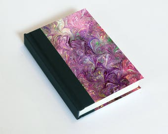 "Sketchbook 4x6"" with motifs of marbled papers - 36"