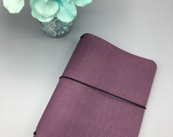 Dusk Purple - Leather Traveler's Notebook/Fauxdori/TN Planner Cover