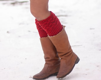 Ready to ship - Cuff boots Warm feet Loading Winter Autumn Accessory for legs and boots Knitted cuffs Gift for women LoveKnittings