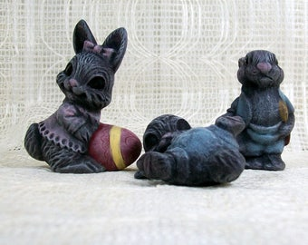 Ceramic Bunny Figurines / Bunny Statues / Ceramic Rabbit Figurines / Rabbit Decor / Easter Decorations / Bunny Decor / Easter Gift