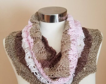 Handknit Lace Cowl / Scarf