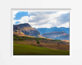 Landscape Photograph, Nature, Art, Decor - South Africa - Drakensberg Mountains