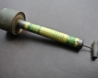 garden duster. Vintage Insect Duster, Rustic Bug Sprayer, Rawleighs Retro Garden Decor, Duster