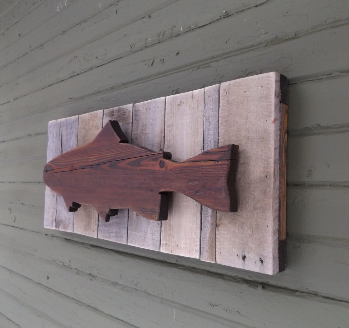 walls il fullxfull listing for fish rustic zoom wall trout decor