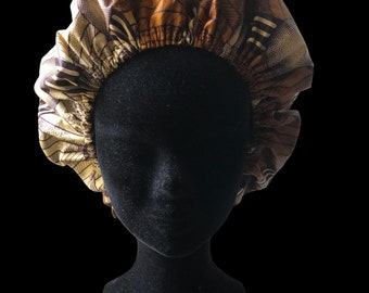 Wax & Satin bonnet adjustable By George;