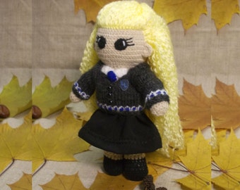 Luna Lovegood Crochet Doll Portrait doll Personalized gift  Hogwarts Rowling teenage gift Harry Potter Witchcraft Wizardry MADE TO ORDER