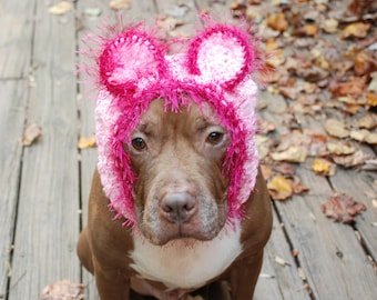 Pink Lion Dog Snood MADE TO ORDER Small Medium Large Extra Large