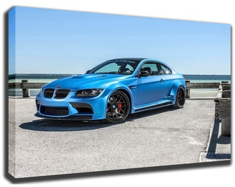 BMW E92 M3 GTRS3 Canvas/Poster Wall Art Pin Up HD Gallery Wrap Room Decor