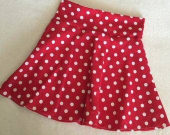 Minnie Mouse Skirt red and white polka dot twirl girls 6 9 12 18 24 months 2T 3T 4T 5T 5 6 7 8 9 10 11 12 Birthday circle Mickey