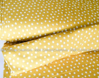 ORGANIC Interlock Knit,  Spots Citron knit, GOTs Certified Cotton Cloud9 fabric from Cloud9 Knits collection