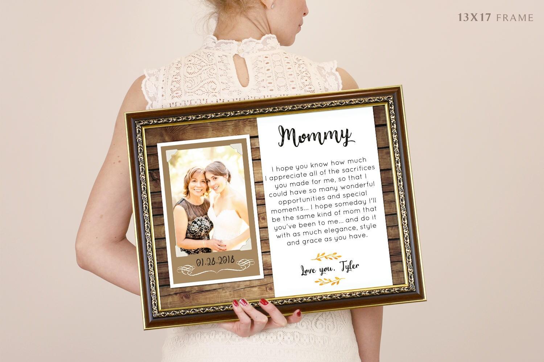 Mutter der Brautgeschenk personalisierte Bilderrahmen eine