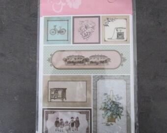 Set of a Board of many patterns of adhesive - beautiful satin