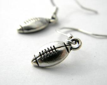 Football Earrings Silver Color Dangle Earrings Sports Earrings