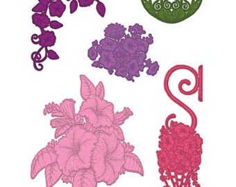 Heartfelt Creations Classic Petunia Bouquet Die HCD1-7141