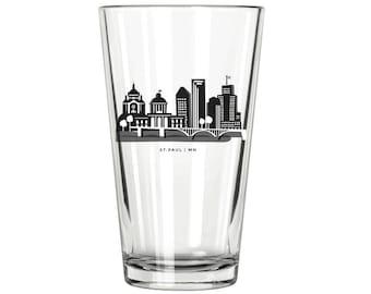 St. Paul Skyline Pint Glass