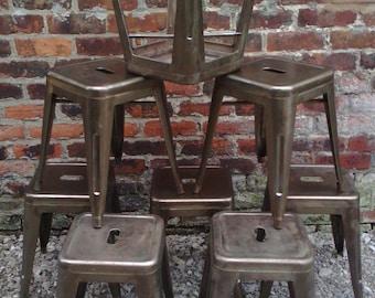 Industrielle stapelbar Stahl Tolix Stil Hocker