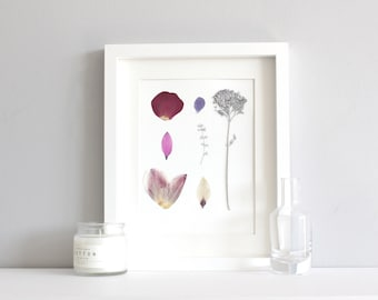 Mother's day artwork, pressed flower art, floral art, framed small picture, flower picture, pretty picture, flower artwork
