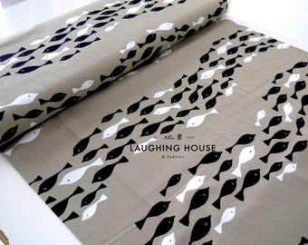Fish School - Tides - Jane Dixon - Andover Fabrics - 1 Yard