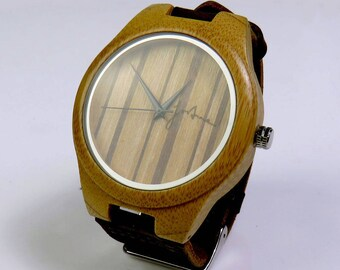 Fortune Forty Six - 'The Soul Searcher' 4.5cm Dial - Natural Bamboo wooden watch