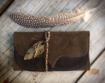Tobacco bag-feather brown/Black