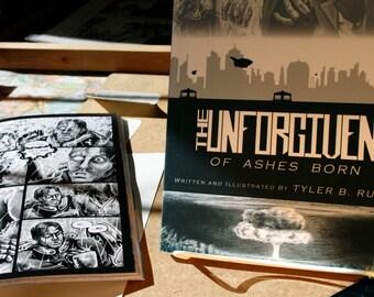 "Graphic novel The UNFORGIVEN Volume 1: ""Of Ashes Born"" original autographed book"