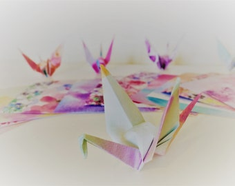 Mini Origami Paper Cranes (20/60/100) Patterned and Colourful