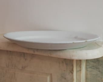 Antique Large Ironstone White Platter, Dish, Plate, Warranted China, Mellor Taylor England