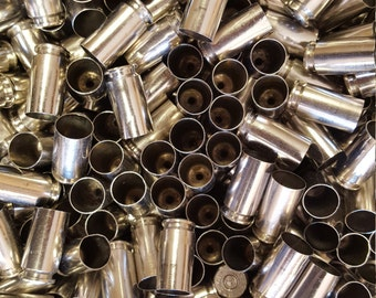 40 SW Once Fired Nickel Plated Brass 350 + Pieces. Perfect for Jewelry and Crafts. Range Brass, Supplies, Crafting, Steampunk, DIY