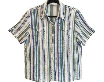 """Camisa 7 de la serie """"Androgynous"""" vintage unisex oversize 90s"""