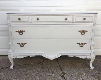 Vintage dresser, shabby chic dresser, antique dresser, grey dresser, changing table, free nyc delivery