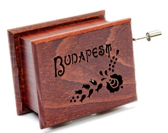 Budapest Kalocsai Matyo Pattern Motif Souvenir Memory Art Travel Holiday Hungary Wooden Music Box Ornament Brahms Hungarian Dance flower