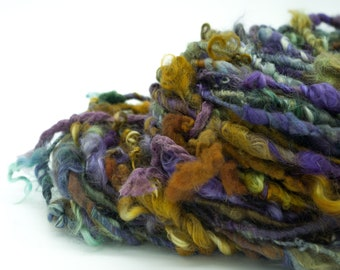 "Luxe Locks Handspun Yarn/ ""Mohave Turquoise""/ Art Yarn/ Lock Spun Yarn/ Border Leicester/ Kid Mohair/ Merino/ Cotswold"