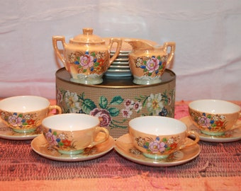 Vintage Child's Tea Set From 1936 or 1937