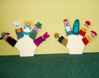 Alice in Wonderland Finger Puppet Set (Includes 10 finger puppets.  Also available as a 5-piece set.)