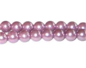 10mm Lavendar Glass Pearl Bead, approx. 22 beads