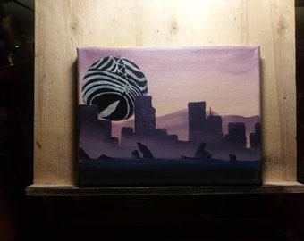 Neon Genesis Evangelion, Leliel, oil painting, 20x15cm