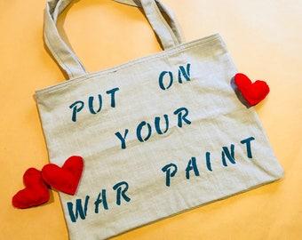 Lipstick= War Paint Tote Bag