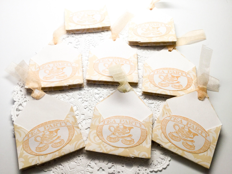Custom order for Aimee - Tea Party Favors - teal - cream - Double ...