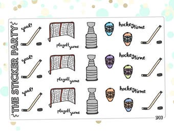 Hockey Doodle Planner Stickers