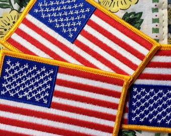 American Flag Official Patch Logo - Vintage 90s