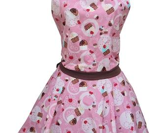Pink Apron, Cute Apron, Cupcake Apron, Lolita Apron, Sexy Apron