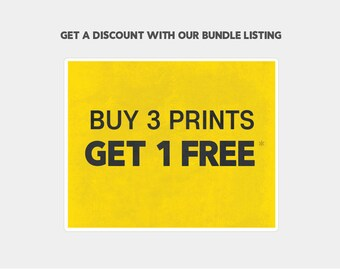 Buy 3 Art Prints of the same size and get the 4th one for Free - Promo - Special Offer - Holidays Bundle