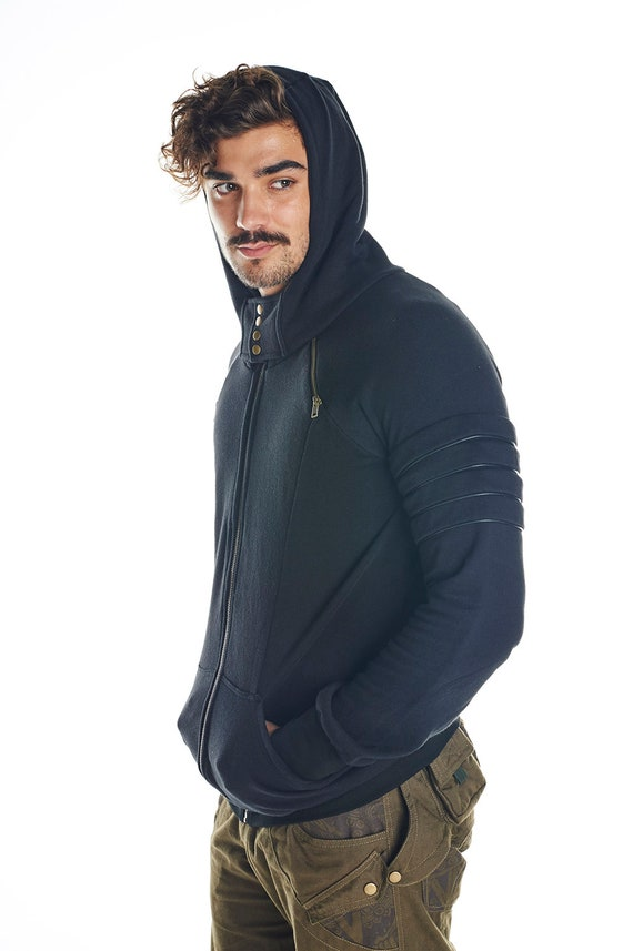top jacket men's gothic festival de clothing Steampunk men hoodie luex burning Cybergoth men psycedelic psytrance man punk warm jacket qZUwndx