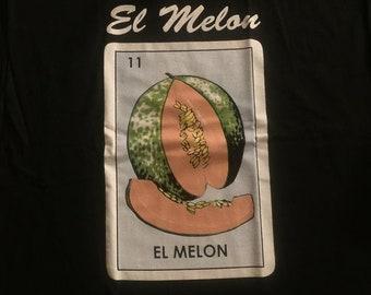 Mexican Loteria  El Melon The Cantaloupe shirt Lottery