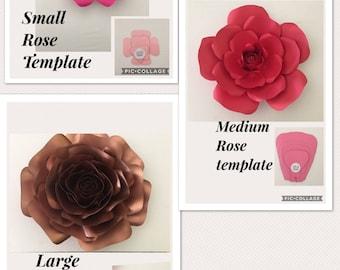 Hard copy paper flower Template