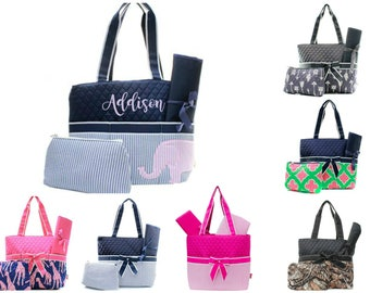 Personalized Diaper Bag Set - Monogram Diaper Bag - Baby Shower Gift - Personalized Nappy Bag - Diaper Bag for Boy - Diaper Bag for Girl