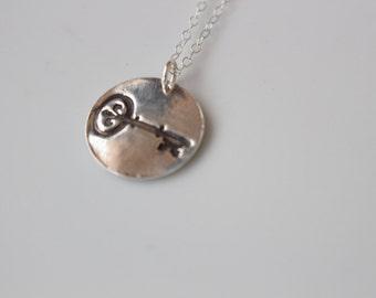 Kappa Kappa Gamma Key Necklace // Key Necklace // KKG Jewelry // Kappa Kappa Gamma Necklace // Greek Licensed Jewelry // Kappa Key Necklace