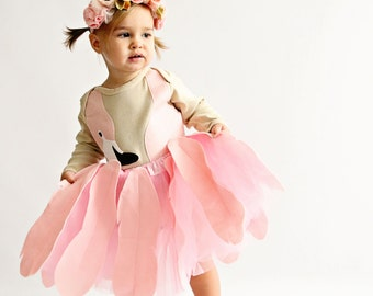 Girls Flamingo Tutu Halloween Costume, Costume Children, Bird Costume, Toddler Halloween Costume, Baby Halloween Costume, Bjork Costume